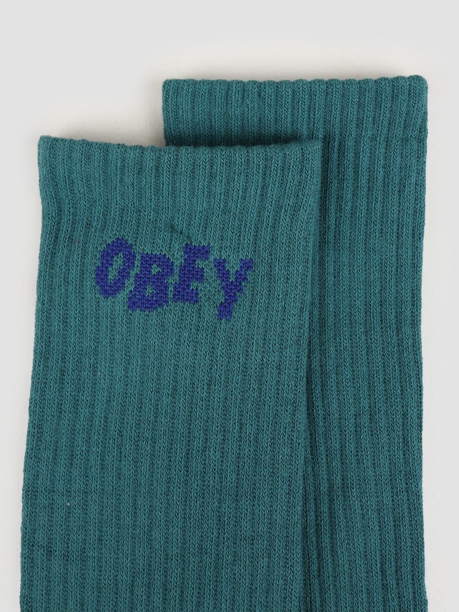 Obey Obey OBEY Jumbled Socks Eucalyptus / blue 100260089 EUC
