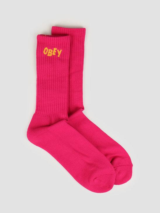 Obey OBEY Jumbled Socks Magenta / yellow 100260089 MAY