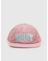 Obey Obey Dtp 6 panel strapback Old rose 100580226 ROS