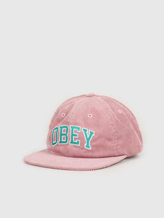 Obey Dtp 6 panel strapback Old rose 100580226 ROS