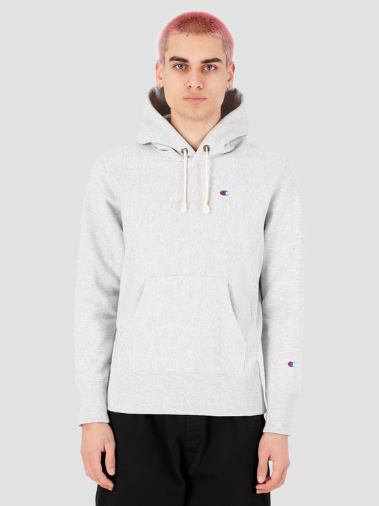 Champion Hooded Sweatshirt Grey Heather LOXGM 214675-EM004