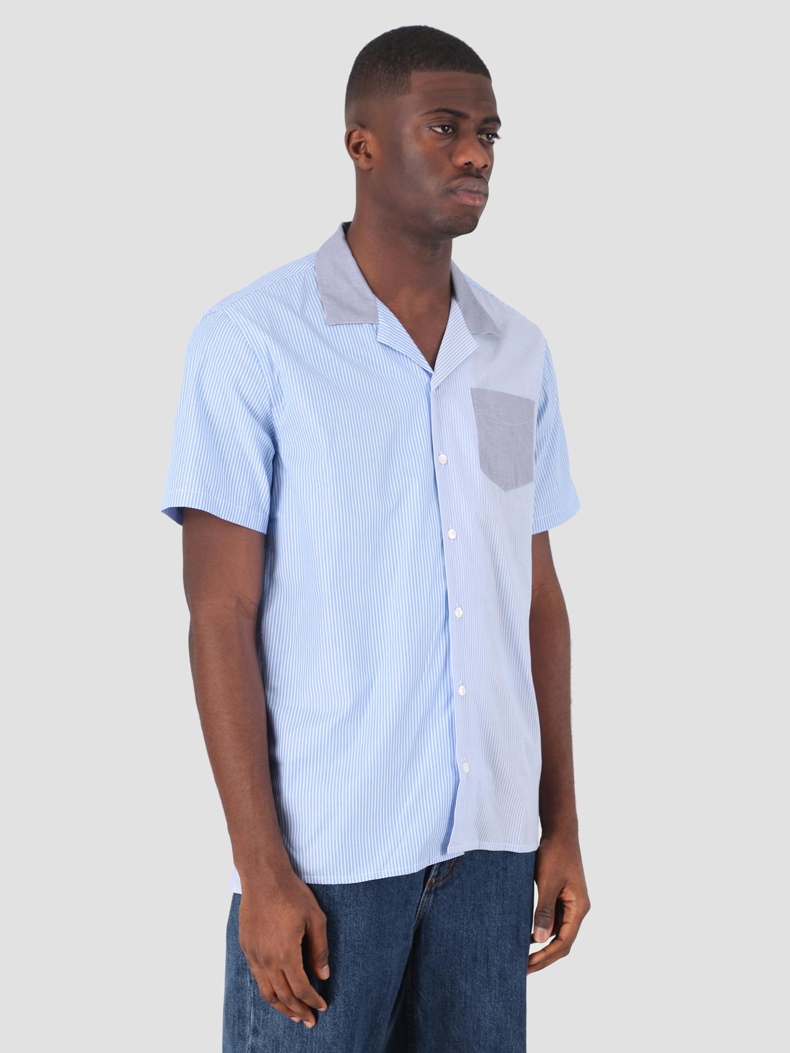 Libertine Libertine Libertine Libertine Cave S/S Dress Shirt Stripe Mix 02 1790