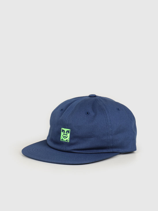 Obey Icon 6 panel strapback Navy 100580218 NVY