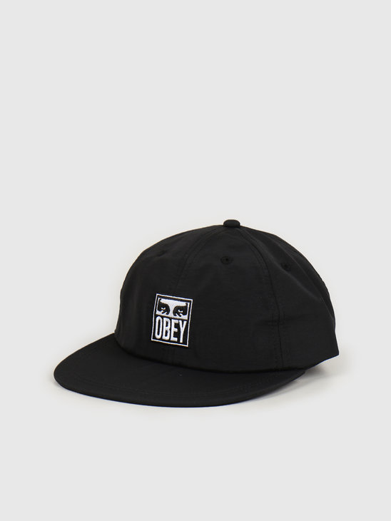 Obey Icon eyes 6 panel strapback Black 100580234 BLK