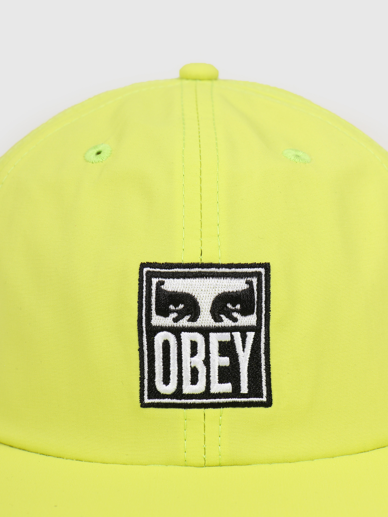 Obey Obey Icon eyes 6 panel strapback Key lime 100580234 KEY