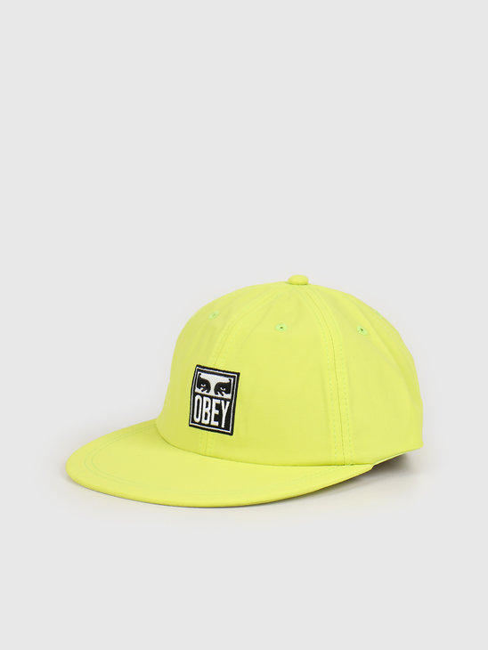 Obey Icon eyes 6 panel strapback Key lime 100580234 KEY