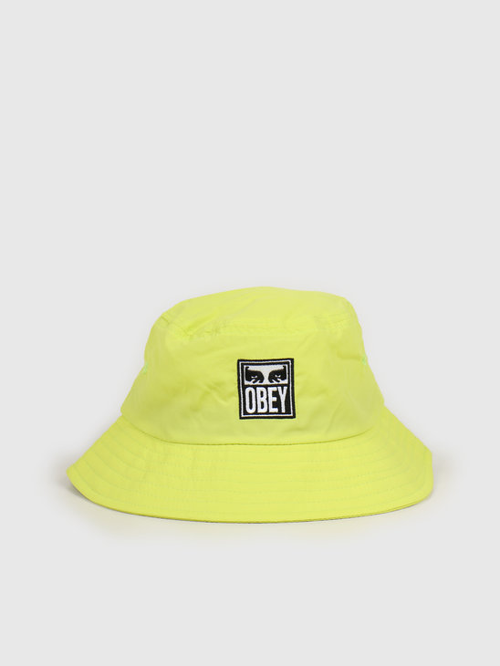 Obey Icon eyes bucket hat Key lime 100520036 KEY