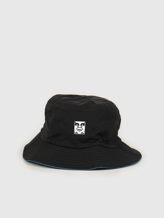 Obey Icon reversible bucket hat Black multi 100520033 BKM