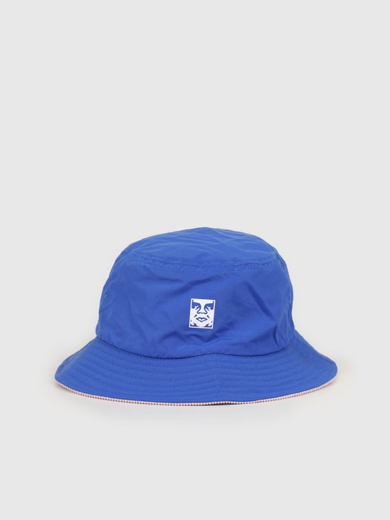 Obey Icon reversible bucket hat Blue multi 100520033 BMU