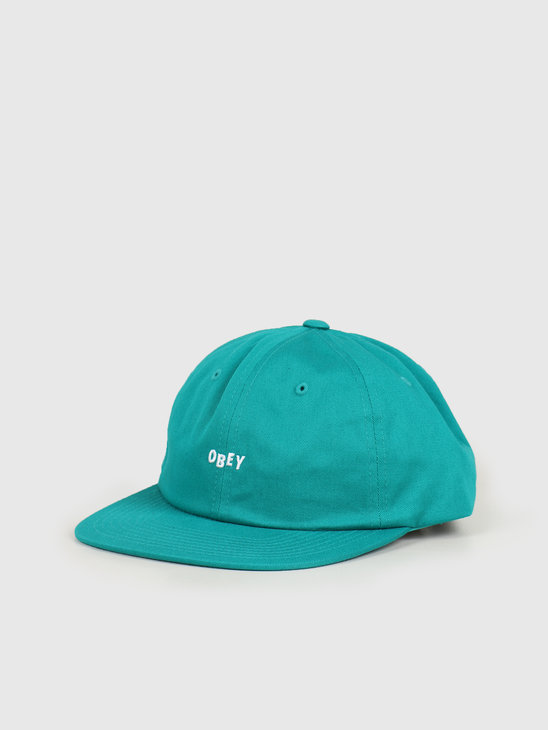 Obey Jumbled 6 panel strapback Teal 100580217 TEA