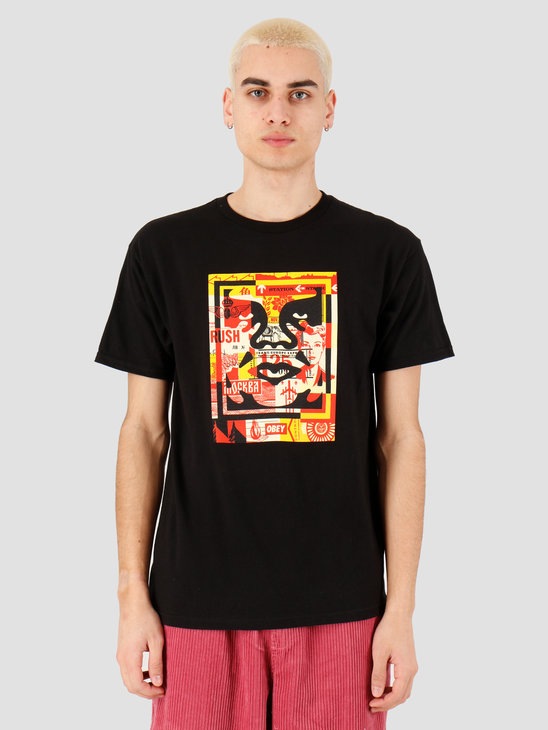 Obey Obey 3 face collage T-shirt Black 163082219 BLK