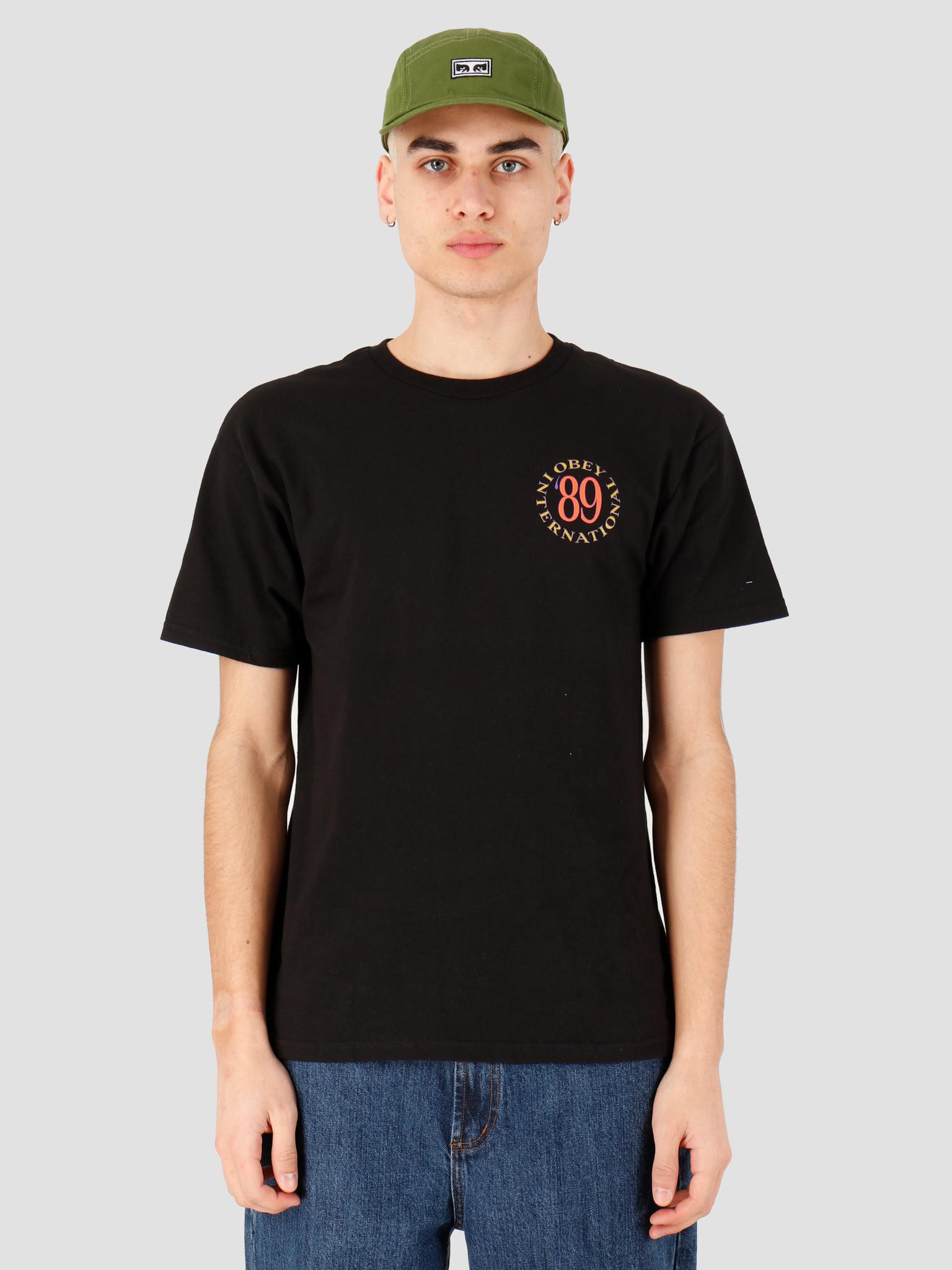 Obey Obey Obey international '89 T-shirt Black 163082230 BLK