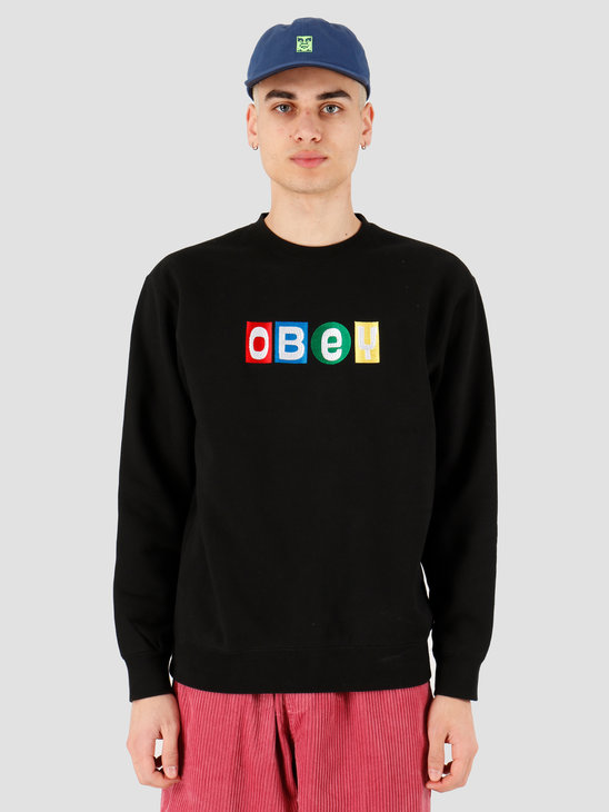 Obey Obey big shots crew Black 112480068 BLK