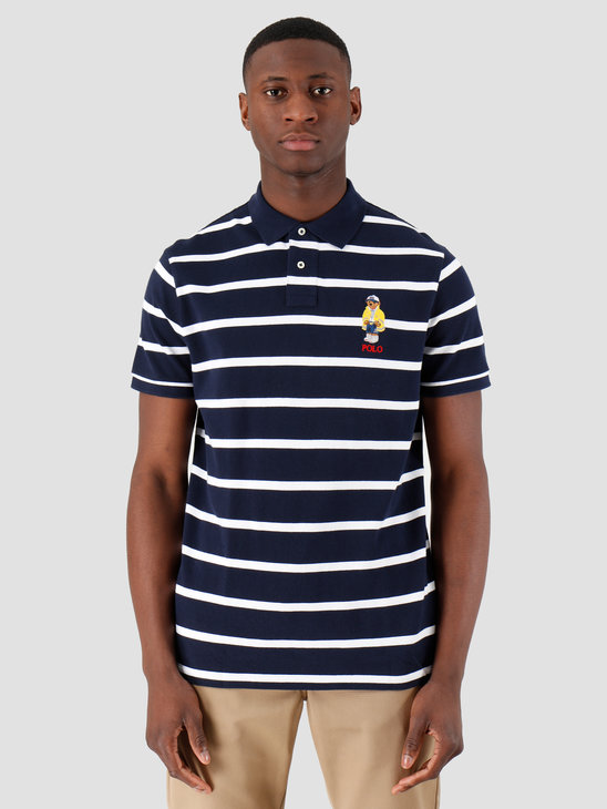 Polo Ralph Lauren Basic Polo Cruise Navy White 710795723001