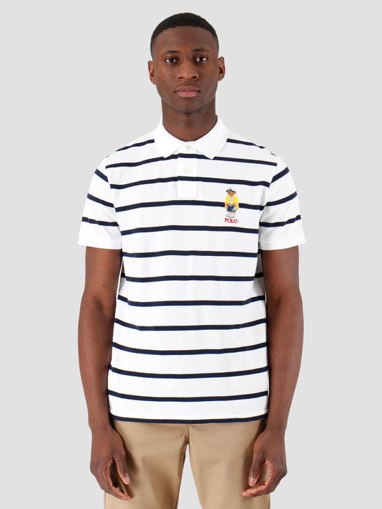 Polo Ralph Lauren Basic Polo White Cruise Navy 710795723002