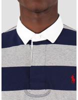 Polo Ralph Lauren Polo Ralph Lauren Striped Rugby Shirt League Heather French Navy 710784004006