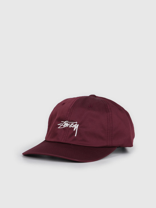 Stussy Lined Nylon Low Pro Cap Berry 131928