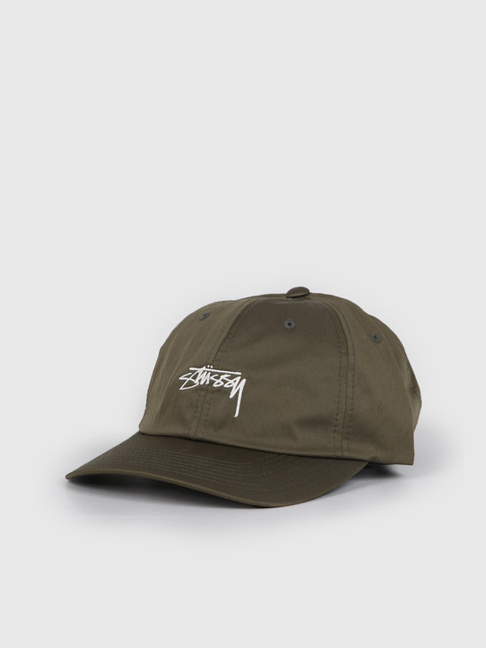 Stussy Lined Nylon Low Pro Cap Green 131928