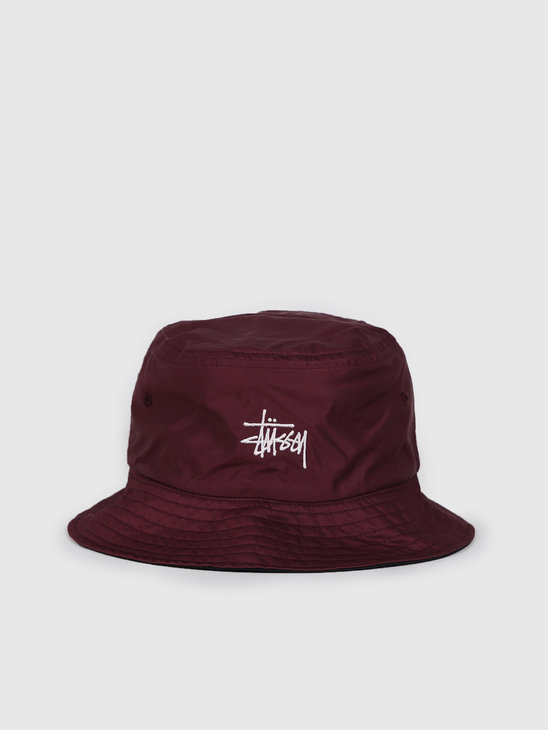 Stussy Reversible Bucket Hat Berry 132975