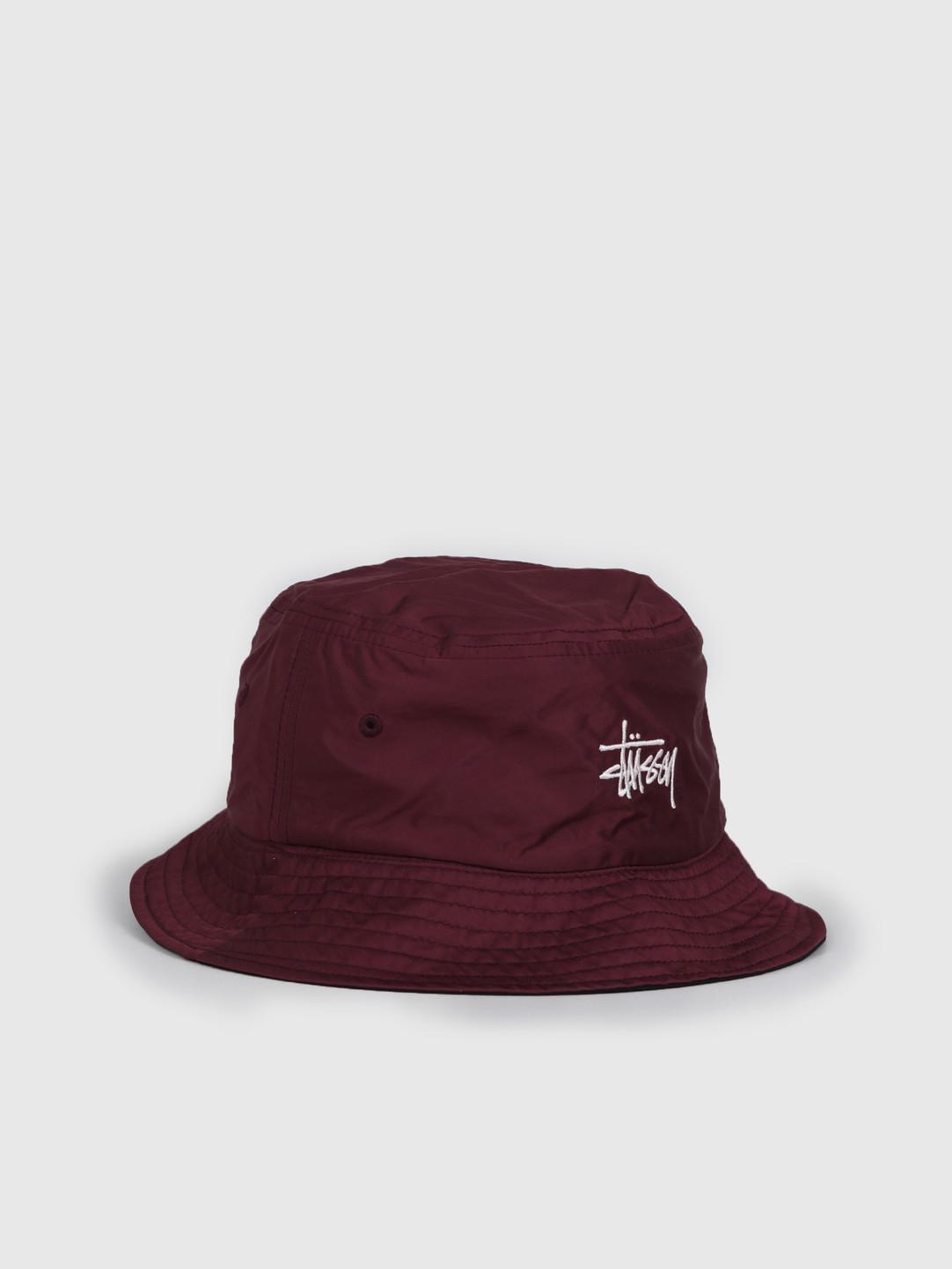 Stussy Stussy Reversible Bucket Hat Berry 132975