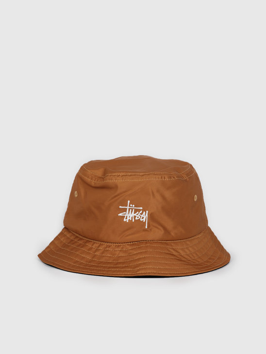 Stussy Reversible Bucket Hat Mustard 132975