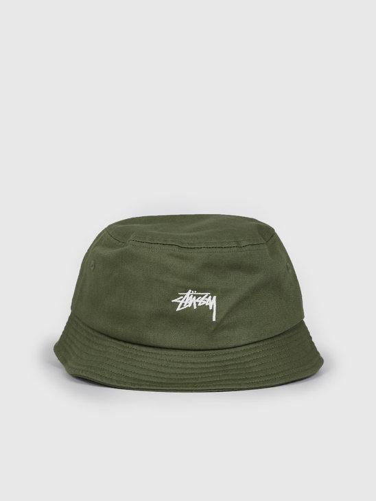 Stussy Stock Bucket Hat Olive 132974