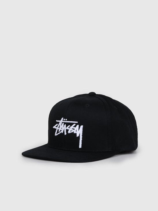 Stussy Stock Cap Black 131934