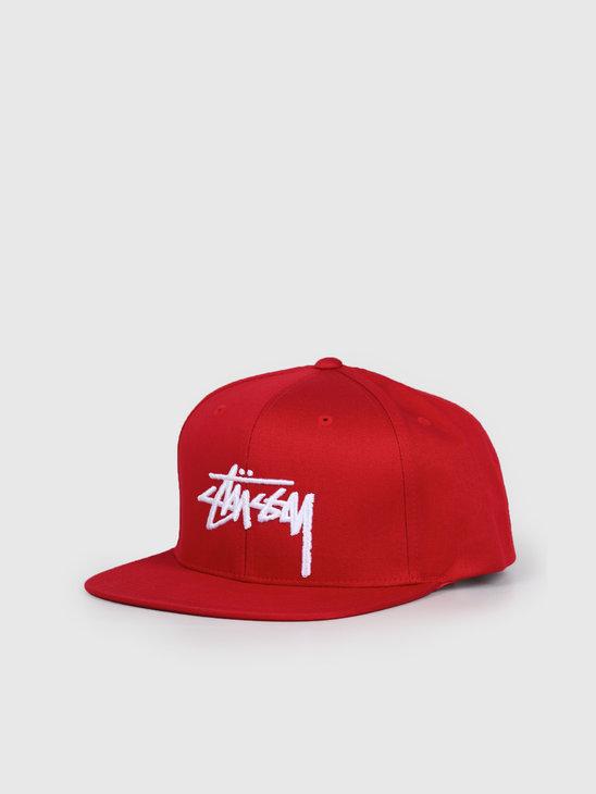 Stussy Stock Cap Red 131934