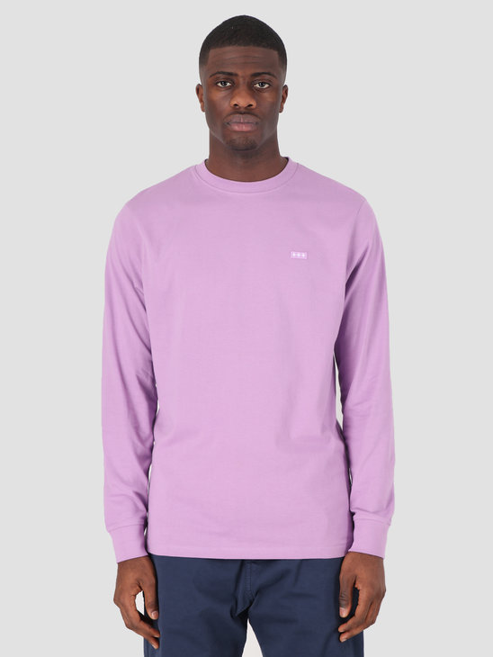 Quality Blanks QB05 Patch Logo Longsleeve Dusty Grape