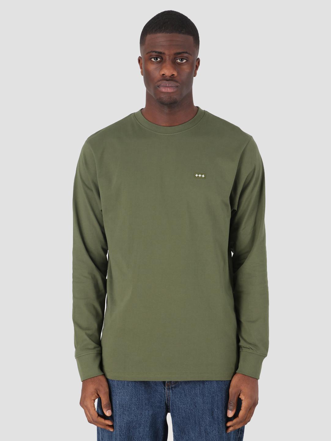 Quality Blanks Quality Blanks QB05 Patch Logo Longsleeve Military Green