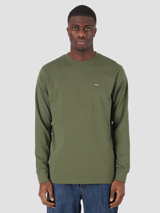 Quality Blanks QB05 Patch Logo Longsleeve Military Green