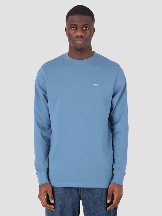 Quality Blanks QB05 Patch Logo Longsleeve Misty Blue