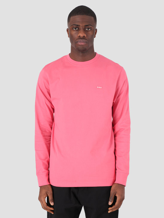 Quality Blanks QB05 Patch Logo Longsleeve Raspberry