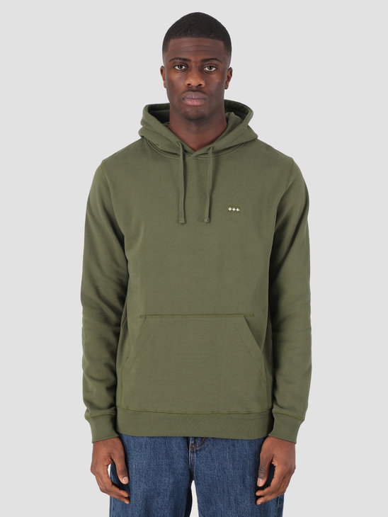 Quality Blanks QB93 Patch Logo Hoodie Military Green
