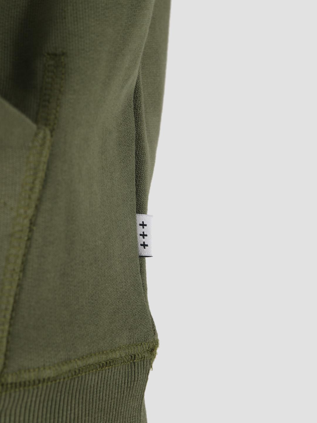 Quality Blanks Quality Blanks QB93 Patch Logo Hoodie Military Green
