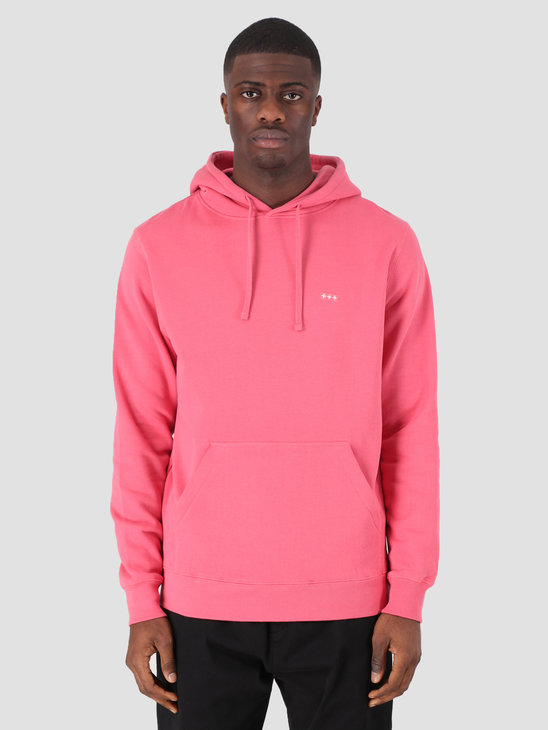 Quality Blanks QB93 Patch Logo Hoodie Raspberry