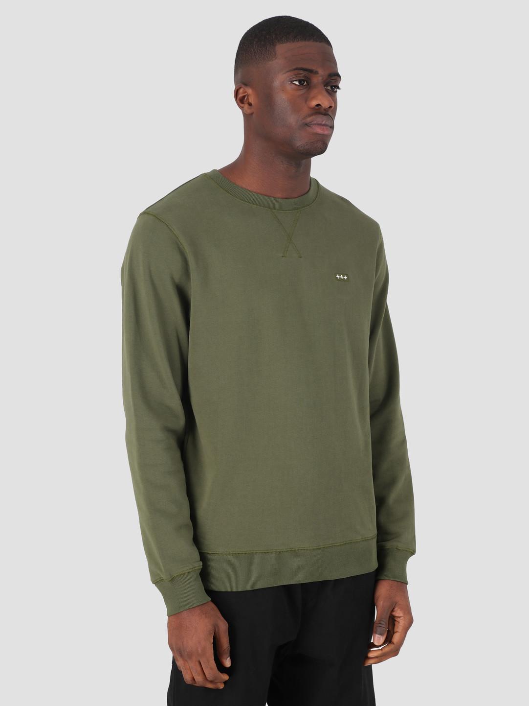 Quality Blanks Quality Blanks QB94 Patch Logo Crewneck Military Green