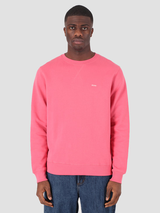 Quality Blanks QB94 Patch Logo Crewneck Raspberry