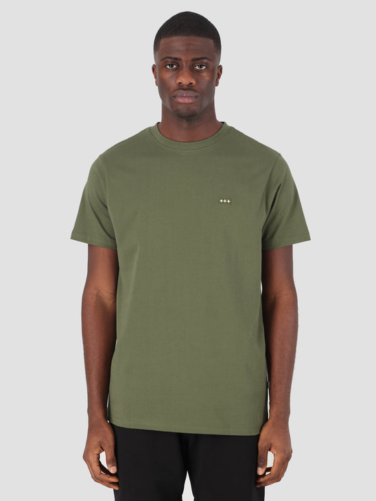 Quality Blanks QB03 Patch Logo T-shirt Military Green