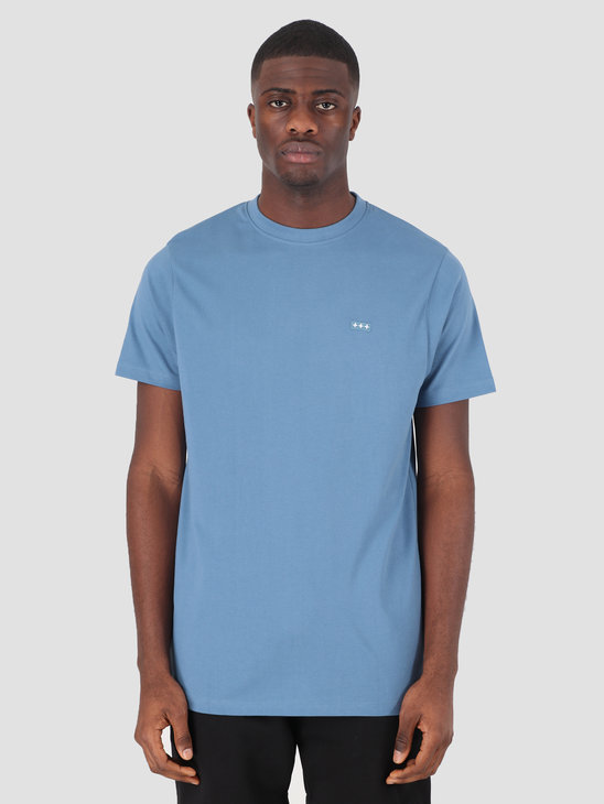 Quality Blanks QB03 Patch Logo T-shirt Misty Blue