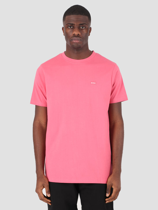 Quality Blanks QB03 Patch Logo T-shirt Raspberry
