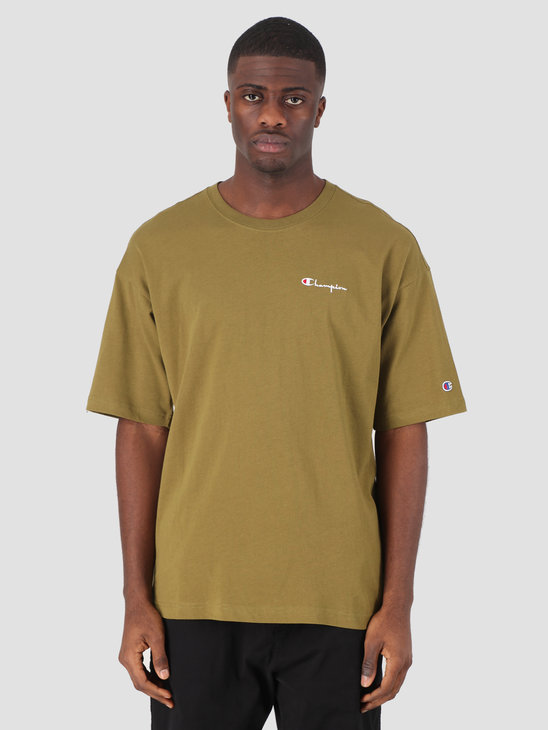 Champion Crewneck T-Shirt Green LZD 214282-GS551