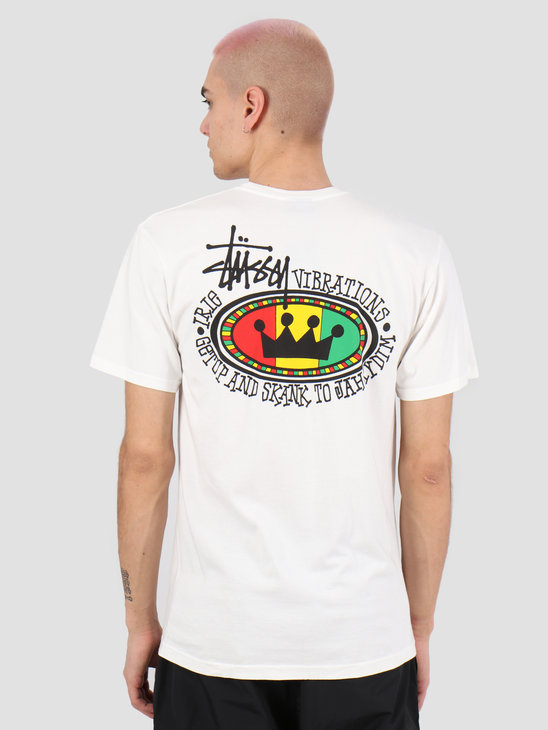 Stussy Rasta Oval Pig. Dyed Tee Natural 1904523