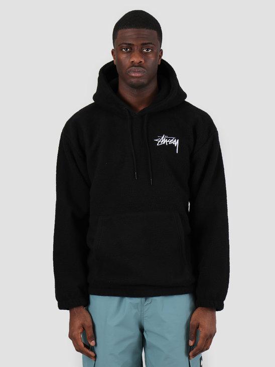 Stussy Bronson Polar Fleece Hood Black 218093