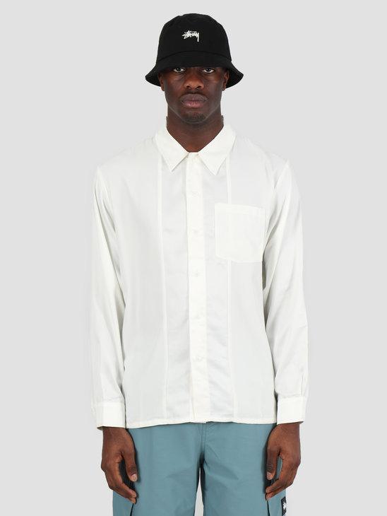 Stussy Contrast Satin Shirt White 211182