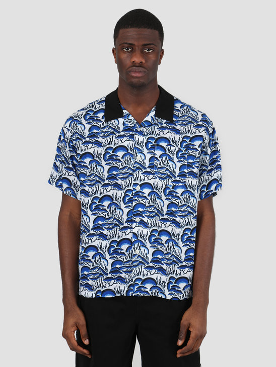 Stussy Coral Pattern Shirt Blue 1110105