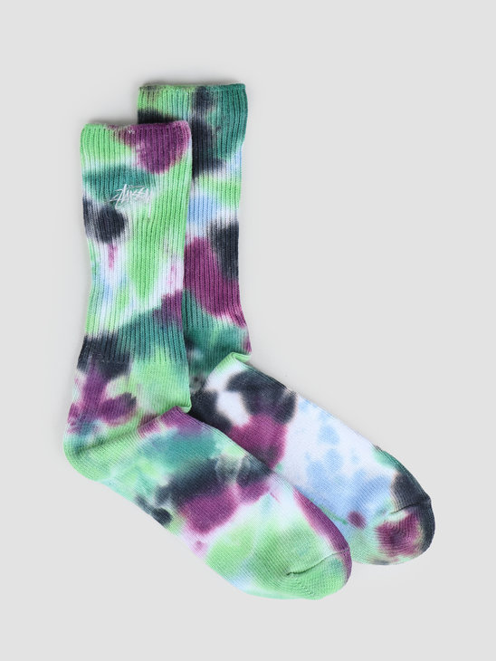Stussy Tie Dye Socks Blue 138661