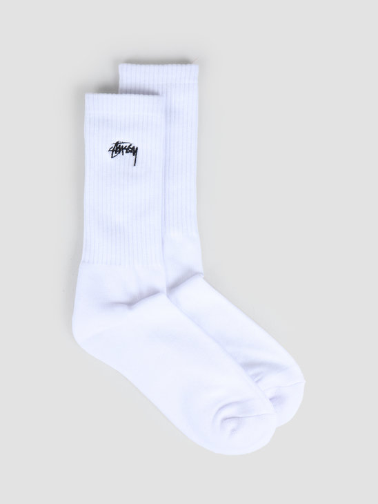 Stussy Small Stock Crew Socks White 138637