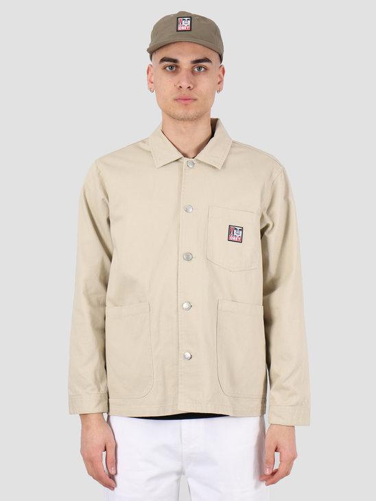 Obey Pebble chore jacket Natural 121800410 NAT