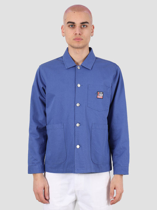 Obey Pebble chore jacket Ultramarine 121800410 UMR